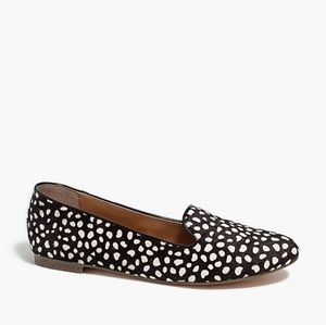 NWOT J. Crew Cora leopard calf hair loafers